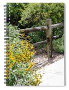 Sun Flower Fence Spiral Notebook