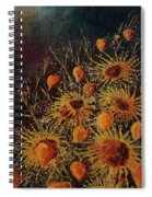 Sun Flowers And Physialis  Spiral Notebook