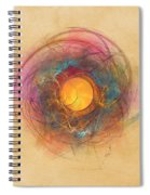 Sun Fractal Abstract Art Spiral Notebook
