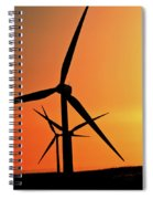 Sun Glare Upon Alberta Windfarm Spiral Notebook
