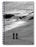 Sun Glow Black And White Spiral Notebook