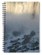 Sun Going Down On American Falls Spiral Notebook