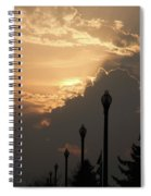 Sun In A Cloud Of Glory Spiral Notebook