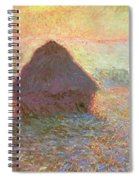 Sun In The Mist Spiral Notebook