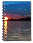Sun Is Setting Over Port Hood Island Spiral Notebook