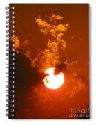 Sun On Fire Spiral Notebook