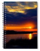Sun Peaking Through Spiral Notebook