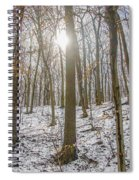 Sun Peaking Through The Trees - Fairmount Park Spiral Notebook