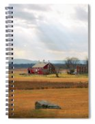 Sun Rays On Codori Farm. Spiral Notebook