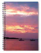 Sun Rays Through The Clouds Spiral Notebook