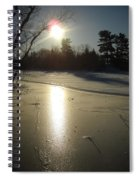 Sun Reflecting Off River Ice Spiral Notebook