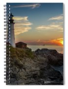 Sun Rising At Portland Head Light Spiral Notebook