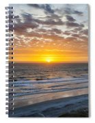 Sun Rising Over Atlantic Spiral Notebook
