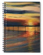 Sun Set At Seabridge Spiral Notebook