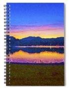 Sun Set On Lake Lure Spiral Notebook