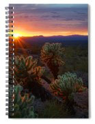 Sun Sets Over The Sonoran  Spiral Notebook