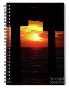 Sun Setting At The Pier Spiral Notebook