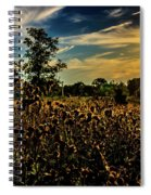 Sun Setting At Valley Forge Spiral Notebook