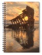 Sun Setting Behind Peter Iredale 0089 Spiral Notebook