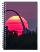 Sun Setting Behind The Arch Spiral Notebook