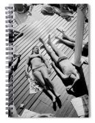 Sun Tanning At The Deligny Swimming Pool, Paris, June, 1963 Spiral Notebook