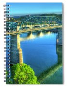 Sun Up Reflections Chattanooga Tennessee Spiral Notebook