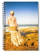 Sunbathing By The Sea Spiral Notebook