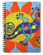 Sunbathing Lizards Spiral Notebook