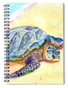 Sunbathing Turtle Spiral Notebook