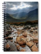Sunbeams, Glencoe, Scotland Spiral Notebook