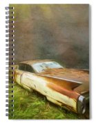 Sunbeams On A Classic Cadillac Spiral Notebook