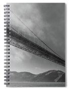 Sunbeams Through The Golden Gate Black And White Spiral Notebook