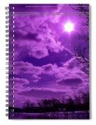 Sunburst In Violet Spiral Notebook