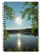 Sunburst Over The Reservoir Spiral Notebook