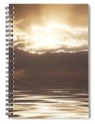 Sunburst Over Water Spiral Notebook