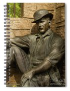 Sundance Kid Statue 4 Spiral Notebook