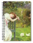 Sunday Afternoon - Ladies In A Garden Spiral Notebook