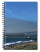 Sunday Afternoon At Golden Gate Bridge Beach Spiral Notebook