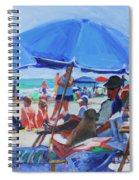 Sunday Beach Blues Spiral Notebook