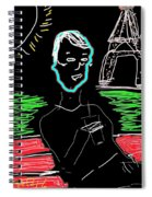 Sunday In Paris Spiral Notebook