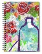 Sunday Market Flowers 2- Art By Linda Woods Spiral Notebook