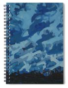 Sunday Sunrise Cumulus Floccus Spiral Notebook