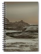 Sundown Over The Ocean Rocks Spiral Notebook