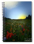 Sundown Wildflower Meadow Spiral Notebook
