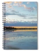 Sundown With Water On Ice Spiral Notebook