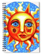 Sunface With Ladybug Spiral Notebook