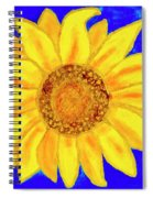 Sunflower, Acrylic Painting Spiral Notebook