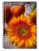 Sunflower And Pears Spiral Notebook