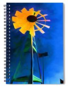Sunflower And The Wind Spirit Spiral Notebook
