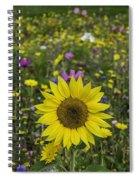Sunflower And Wildflowers Spiral Notebook